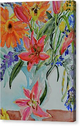 Canvas Print featuring the painting Uncontainable by Beverley Harper Tinsley