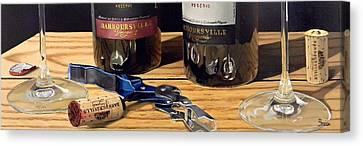 Virginia Wine Canvas Print - Uncork Your Passion by Brien Cole