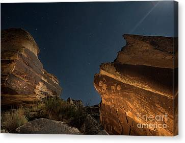 Uncounted Years Under The Moonlight Canvas Print by Melany Sarafis