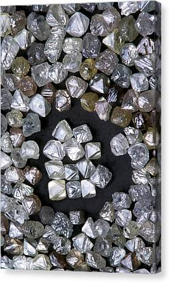 Uncut Diamonds Canvas Print by Kaj R. Svensson