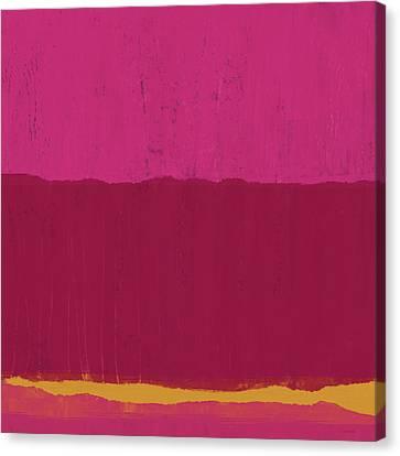 Color Block Canvas Print - Undaunted Pink 2- Art By Linda Woods by Linda Woods
