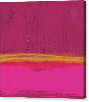 Color Block Canvas Print - Undaunted Pink Abstract- Art By Linda Woods by Linda Woods