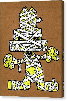 Undead Bunny Canvas Print by Bizarre Bunny