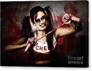 Cheerleaders Canvas Print - Undead Cheerleader Causing Destruction And Chaos by Jorgo Photography - Wall Art Gallery