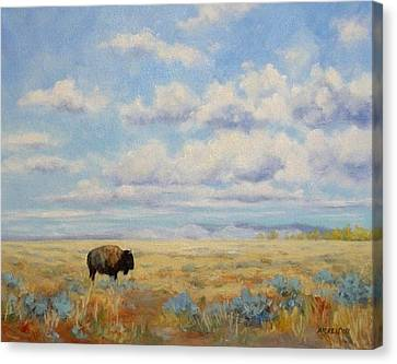 Under A Big Sky Canvas Print by Debra Mickelson
