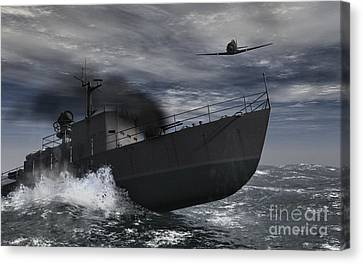 Under Attack Canvas Print by Richard Rizzo