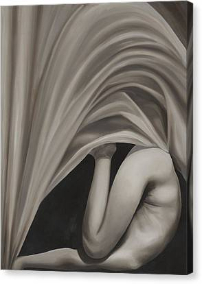 Under Cover Canvas Print by Katherine Huck Fernie Howard