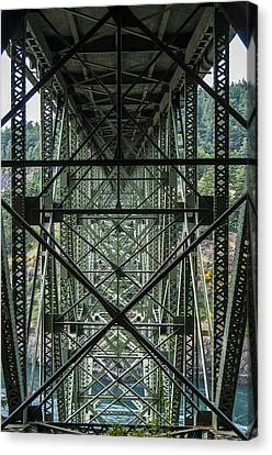 Under Deception Pass Bridge Canvas Print by Pelo Blanco Photo