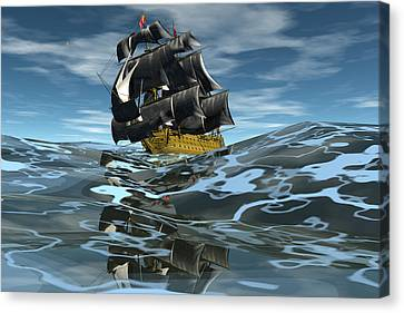 Under Full Sail Canvas Print by Claude McCoy