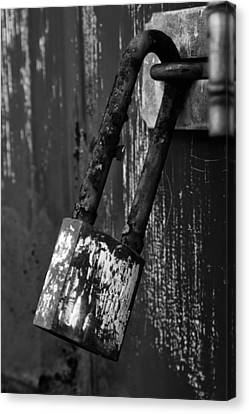 Under Lock And Key II Canvas Print by Off The Beaten Path Photography - Andrew Alexander