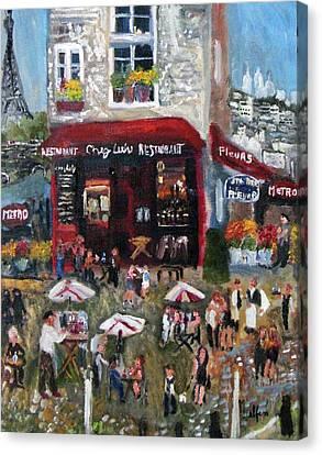 Under Paris Skies Canvas Print by Michael Helfen