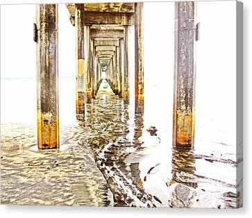 Under Scripps Pier Canvas Print by Ruth Jolly