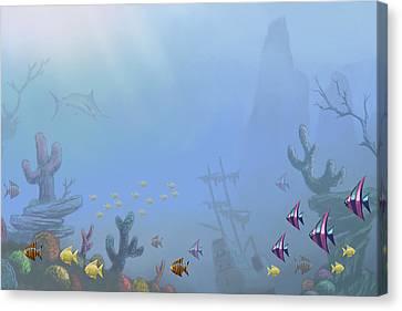 Under Sea 01 Canvas Print