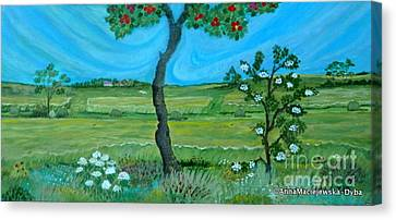 Under The Apple Tree Canvas Print by Anna Folkartanna Maciejewska-Dyba