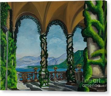 Under The Arches At Villa Balvianella Canvas Print by Charlotte Blanchard