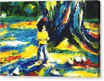Under The Banyan Tree#201 Canvas Print by Donald k Hall