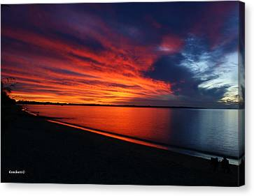 Canvas Print featuring the photograph Under The Blood Red Sky by Gary Crockett