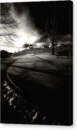 Under The Boardwalk.... Canvas Print by Russell Styles