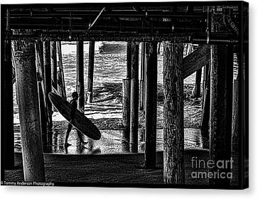 Under The Boardwalk Canvas Print by Tommy Anderson
