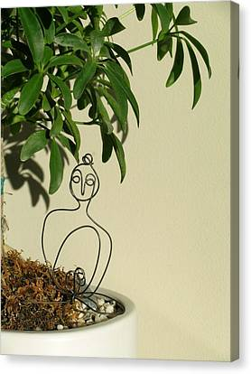 Under The Bodhi Tree Canvas Print by Live Wire Spirit