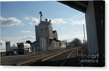 Old Feed Mills Canvas Print - Under The Bridge At The Ol Mill   # by Rob Luzier