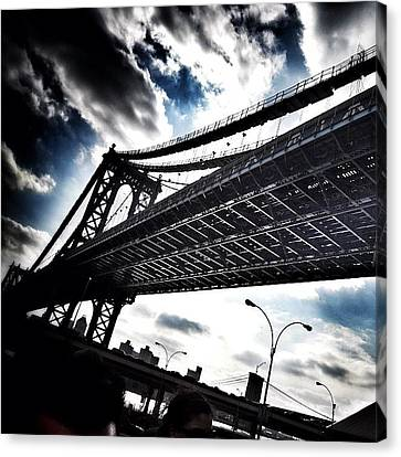 Under The Bridge Canvas Print by Christopher Leon