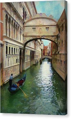 Under The Bridge Of Sighs Canvas Print by Jeff Kolker