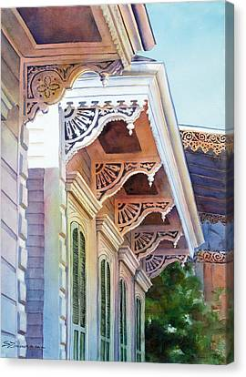 Under The Eaves Canvas Print by Sue Zimmermann