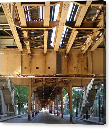 Under The El - 1 Canvas Print by Ely Arsha
