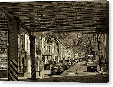 Under The El At Manayunk 1 Canvas Print by Jack Paolini