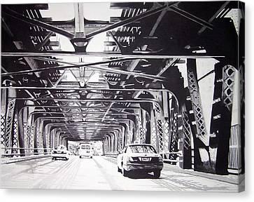 Under The El Canvas Print by Scott Robinson
