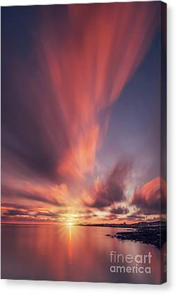 Under The Flaming Skies Canvas Print