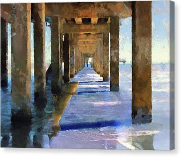 Under The Galvaston Pier - Limited Edition Canvas Print