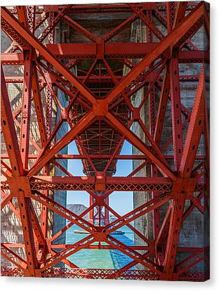 Under The Golden Gate Bridge Canvas Print by Sarit Sotangkur