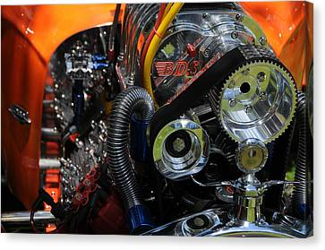 Canvas Print featuring the photograph Under The Hood by Mike Martin