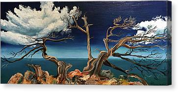 Under The Influence Of Winds / Original Oil Painting On Stretched Canvas Canvas Print by Svetoyara Rysenko