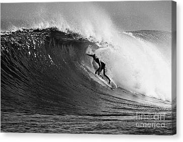 Under The Lip In Black And White Canvas Print