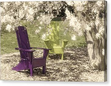 Under The Magnolia Tree Canvas Print by Tom Mc Nemar