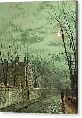 Under The Moonbeams Canvas Print by John Atkinson Grimshaw