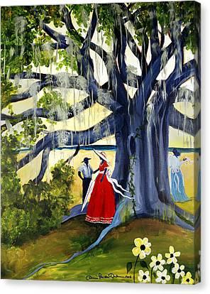 Under The Mossy Oak Canvas Print by Diane Britton Dunham