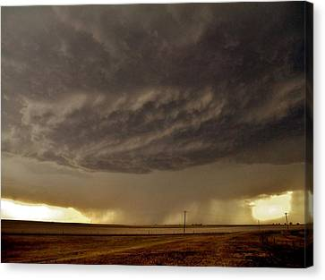 Canvas Print featuring the photograph Under The Mothership by Ed Sweeney