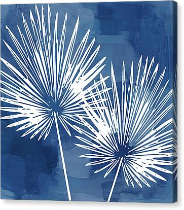 Under The Palms- Art By Linda Woods Canvas Print