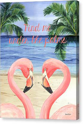 Under The Palms Canvas Print by Debbie DeWitt