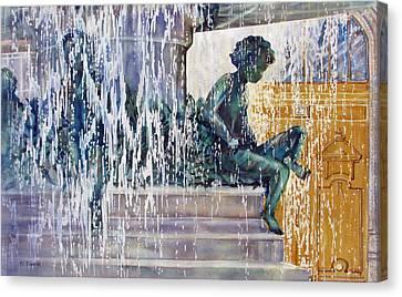 Under-the-parisian-sun Canvas Print by Nancy Newman