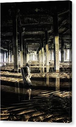 Under The Pier Canvas Print