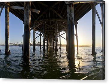 Sea Scape Canvas Print - Under The Pier by Sean Davey