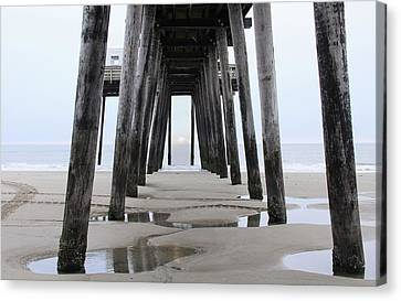 Canvas Print featuring the digital art Under The Pier by Sharon Batdorf