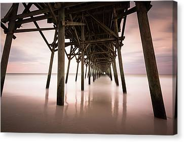 Under The Pier Sunset, Garden City Canvas Print by Ivo Kerssemakers