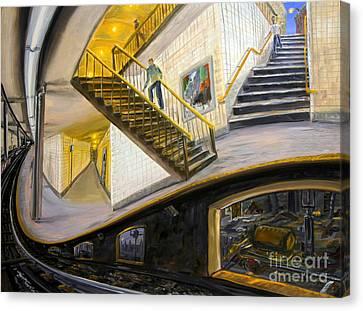 Under The Platform Canvas Print by Arthur Robins