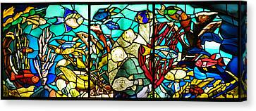 Under The Sea - Stained Glass Canvas Print by Bill Cannon